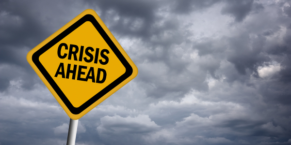 crisis sign stormy sky