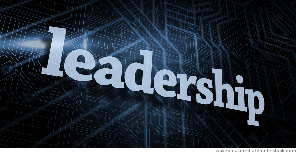leadership on digital background